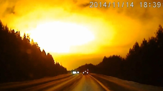 Unexplained Bright Light In Russia